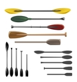 Paddles and oars icons vector image