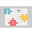 Abstract Puzzle four vector image