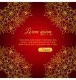 Invitation elegant template gold ornamental frame vector image
