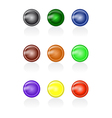 Set of abstract glass buttons vector image