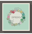Abstract spring design with pastel colored beads vector image vector image