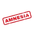 Amnesia Text Rubber Stamp vector image vector image