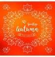 Autumn frame poster card Fall leaves background vector image
