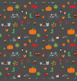 autumn garden flat pattern vector image vector image