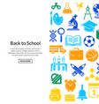 back to school stationery background vector image vector image