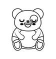 bear panda kawaii cartoon vector image vector image