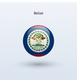 Belize round flag vector image vector image