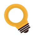 bulb electricity energy icon graphic vector image
