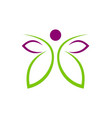 butterfly abstract beauty spa logo vector image vector image