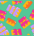cake seamless pattern dessert for birthday and vector image vector image
