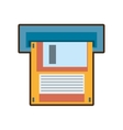 cartoon floppy diskette storage computer vector image