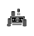 cash black icon sign on isolated vector image vector image