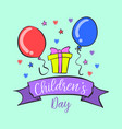 children day design collection doodles vector image vector image