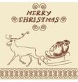 Christmas deer doodles vector image vector image