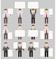 Collection of office worker with posters vector image vector image