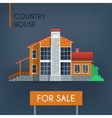 Country house with red roof vector image