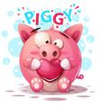 cute pig characters - cartoon vector image vector image