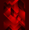 dark red abstract geometric background vector image vector image