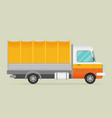 delivery transport old truck van flat vector image vector image