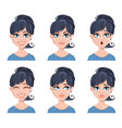 different female emotions set vector image vector image