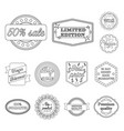 different label outline icons in set collection vector image vector image
