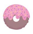 donut glazed chips sweet cartoon icon style design vector image