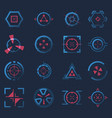 futuristic crosshairs or aims for target hud icon vector image vector image