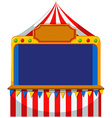 Game border at the tent vector image