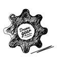 gear drawn vector image vector image