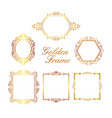 golden frame collection vector image vector image