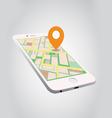 gps on smartphone vector image vector image