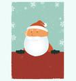 grungy santa poster vector image