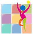 Gymnastics with ball icon in colors vector image vector image