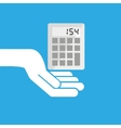 hand hold icon calculator design flat isolated vector image vector image