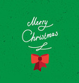 Hand written lettering of Merry Christmas vintage vector image