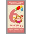 Happy birthday lovely card with funny vector image vector image