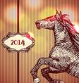 Horse head-s tyle prints vector image