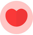 icon concept of love red vector image