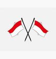 indonesian flag on white background