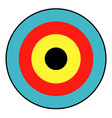 isolated archery target vector image vector image
