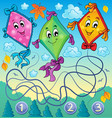 kites theme image 4 vector image