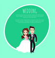 man and woman newlyweds wedding festive vector image vector image