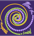 mardi gras background with purple green and vector image vector image