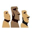 Moai Moais Monolithic Statues vector image