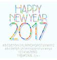 Mosaic Happy New Year 2017 greeting card vector image vector image
