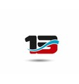 Number 13 swoosh design template logo vector image vector image