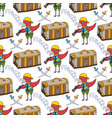 parrot doodle seamless pattern background with vector image vector image