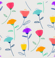 pattern with pastel flower vector image
