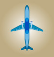 plane colorful flat design vector image vector image