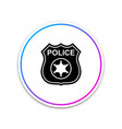 police badge icon isolated sheriff badge sign vector image vector image